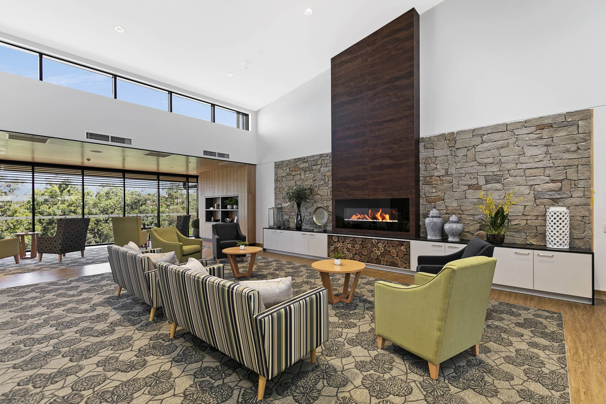 TriCare Stafford Lakes Aged Care fireplace